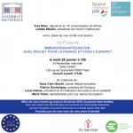 Le 28 janvier 2019, l'avenir n'attend pas vous invite à débattre…de l'Europe, de l'immigration et de l'intégration